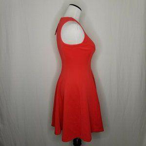Bar III Dresses - Bar III Coral Zip Front Scuba Fit and Flare Dress